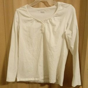 EUC Super cute ivory colored top